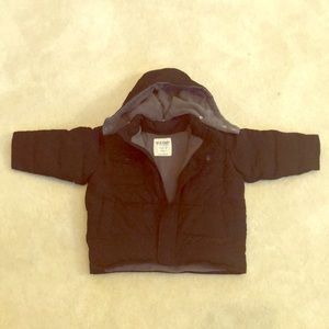 Old Navy brand puffer coat with removable hood
